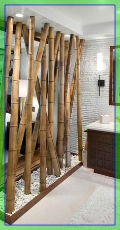 Bamboo Architecture bamboo wall decor ideas #Bamboo #Architecture #bamboo #wall #decor #ideas Please Click Link To Find More Reference,,, ENJOY!! Bamboo Poles, Bamboo Wall, Bamboo Fence, Bamboo Garden, Living Room Partition Design, Room Partition Designs, Room Partition Wall, Partition Ideas, Bamboo Architecture