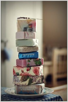 stack of beautiful soaps. It's the little things that make home special.