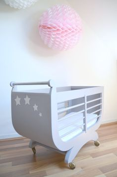 French baby bed crib wicker vintage bamboo rattan 1960 nice original - Lit roulotte vintage ...