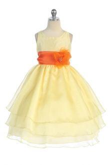 Yellow Flower Girl Dresses