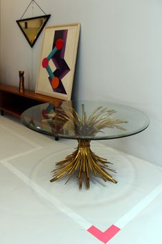 Hollywood Regency brass table /// More on Interiorator.com
