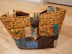 Fabric scrap tote bag