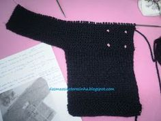 Das Mãos da Teresinha: Casaco de tricô para bebé tam. 6 meses (com PAP)