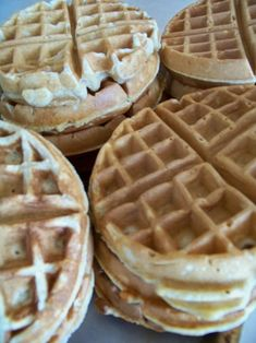 Whole Wheat Waffle mix...I made these this morning and I accidentally forgot to add the oil. I did add 2 tbsp. peanut butter because Joey want PB waffles and try turned out amazing!! My oops turned into an amazing breakfast :)