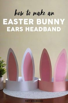 Easter Bunny Ears Headband - Craft for Kids Are you looking for a fun Easter Craft for kids? This Easter Bunny Ear Headband is a simple craft that comes with a printable template. These bunny ears will be a great addition to any Easter Egg Hunt outfit. Easter Arts And Crafts, Easter Crafts For Toddlers, Bunny Crafts, Toddler Crafts, Preschool Crafts, Craft Kids, Kids Fun, Easter With Kids, Easter Ideas For Kids