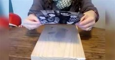 She Puts a Photo On A Block Of Wood. When She's Done? Amazing!