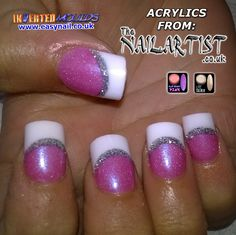 Add a little Lite Silver into ANY powder to give it a cool shimmer effect. Here it was added to our unique FlipShift Pink! IMs by Jennifer Glass: IMs from www.easynail.co.uk Acrylic powders from www.thenailartist.co.uk #Invertedmoulds #enuk #ims #nails #nailart #acrylicnails #nailporn #nailgasm #nailstagram #nailartdesign #notd #nailswag #nailsofinstagram #nails2inspire #nailsart #nailartaddict #nailartoohlala #nailartwow #nailartjunkie #nailartheaven #nailartaddicts #nailartist
