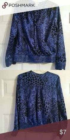 """Beautiful mock wrap top 18""""chest 23""""length Gently worn excellent condition Cache Tops Blouses"""
