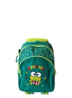 Mochila escolar con ruedas Keroppi. Colección Friends #Sanrio #ClubJ #Shop #Online #Cute #Girls