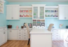 Craft Room Storage Ideas & Organization Systems Our craft room storage solutions provide effective organization without sacrificing space for your creative projects. Get craft room design ideas by California Closets. Sewing Room Organization, Craft Room Storage, Craft Rooms, Storage Ideas, Storage Systems, Closet Storage, Ikea Craft Room, Organization Ideas, Kitchen Organization