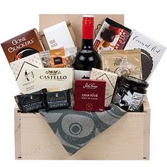 The Corporate - Wine and gourmet foods gift box Gourmet Food Gifts, Gourmet Gift Baskets, Gourmet Foods, Gourmet Recipes, Corporate Gift Baskets, Corporate Gifts, Christmas Gift Baskets, Christmas Gifts, Vancouver