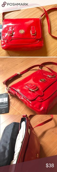 ❤️❤️NEW❤️❤️ Tommy Crossbody Bag Very Spacious. New with gold details, and the gold Tommy Monogram. A fiery red color, and is sure to accommodate all of your needs. It is a good statement piece for almost any outfit. Negotiable and 50% off! Tommy Hilfiger Bags Crossbody Bags