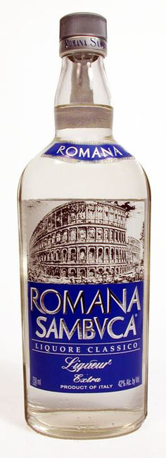 Romana Sambuca + ice= kmm happy