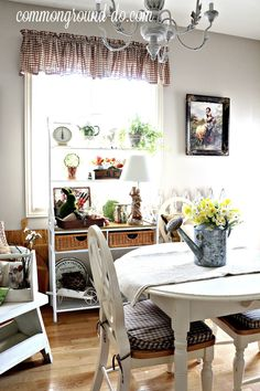 """Hi Friends, are you feelin' all the  """"Spring"""" Love  this week? It's overflowing here in Blogland with all the Spring Home Tours filled wi..."""