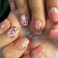 Blush Pink prom  nails