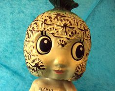 Vintage Aloha Pineapple Bobble Head Bank Doll Figurine on  Etsy at RetroRosiesVintage