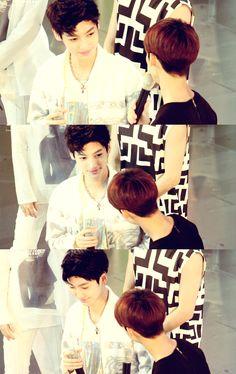 aww sweet ♥ #kpop #Boyfriend #JoTwins #Youngmin #Kwangmin #Starring #Sweetness