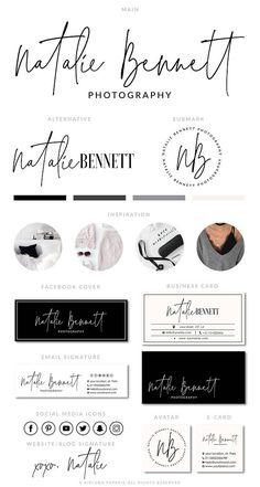 Blog Logo Branding Kit Photography Logo Premade calligraphy