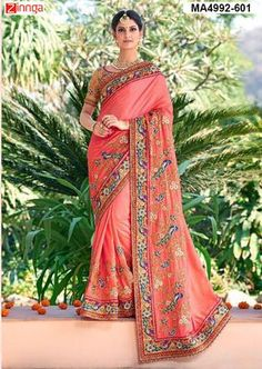 Peach Color Georgette Saree  #Sarees #Fashion #Looking #Popular #Offers #Deals #Looking #fashionable #Zinnga #Zinngafashion #Trend  #Trending #Deal #Beautiful #Nice #Look