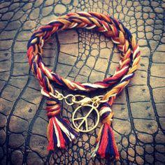 "#Bracelet ""Freedom"" #collection ""Sunny Sunday"" #charms #HandMade #MadeInFrance #Lifestyle #rio #bresil #brasil #france #peace"