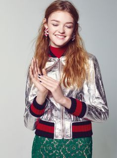 Bomber Jackets: Willow Hand for Teen Vogue November 2015 Gucci Resort 2016 - Gucci Jacket - Ideas of Gucci Jacket - Bomber Jackets: Willow Hand for Teen Vogue November 2015 Gucci Resort 2016 Teen Models, Old Models, Fashion Photo, Teen Fashion, Fashion Trends, 14 Year Old Model, Willow Hand, Gucci, Vogue Magazine