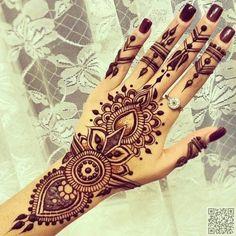 23. #Mehandi дизайн - 35 #невероятное хна тату дизайн вдохновения... → #Beauty