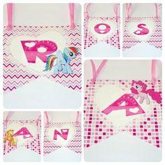 Banderines Cuadrados de papel (6 unidades) - Mi pequeño pony