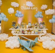 Prince Birthday Party, Wild One Birthday Party, Baby Boy Birthday, 1st Birthday Parties, Birthday Party Decorations, Baby Shower Decorations, Diaper Shower Invitations, Time Flies Birthday, Planes Birthday