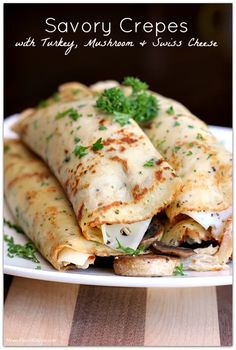 Crepes don't only have to be enjoyed at breakfast time. You can have them for brunch, lunch, or dinner too! Enjoy these 25 crepe recipes for brunch! Herb Crepes with Hollandaise I made crepes fo… Easy Crepe Recipe, Crepe Recipes, Brunch Recipes, Breakfast Recipes, Dinner Recipes, Mexican Breakfast, Pancake Recipes, Breakfast Sandwiches, Breakfast Pizza