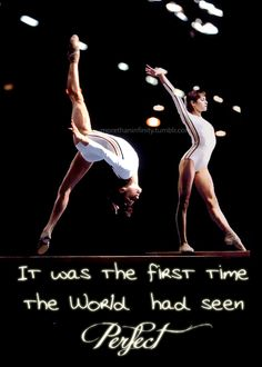 1976 Summer Olympics.  Nadia Comaneci, age 14, from Romania,  was the first gymnast to win a perfect 10 score, and she did it 7 times! She also took home 5 medals, 3 of them gold.