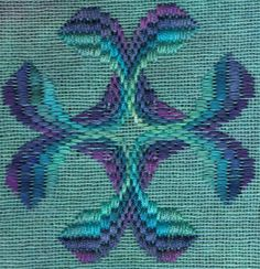 Beautiful colors in this Bargello pattern