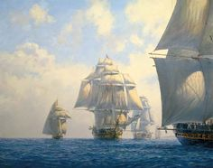 """""""We'll put up our pocket handkerchiefs if we have to."""" Studding Sails by Geoff…"""