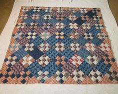 MINT ANTIQUE VERY EARLY 1830/1840 PATCHWORK QUILT W/LINEN BACKING, AWESOME FABRI in Antiques, Linens & Textiles (Pre-1930), Quilts   eBay