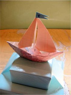 paper boat + map
