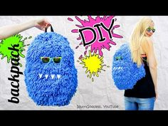 DIY Fluffy Monster Backpack – How To Make A Funny Hairy Backpack - YouTube