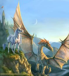 Dragon & Unicorn Pictures, Images and Photos