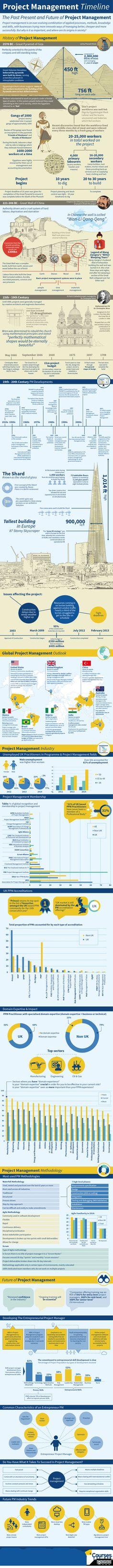 Infographic Project Management Timeline Past Present and Future Virtual Project Management Consulting Program Management, Change Management, Business Management, Management Tips, Agile Software Development, Career Development, Formation Management, Projekt Manager, Leadership