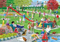Gibsons Swings and Roundabouts Jigsaw Puzzle (500 XL Pieces)