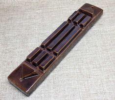 Barre Atlante en céramique, couleur brun. Coquille Saint Jacques, Barre, Tie Clip, Feng Shui, Egypt, Color