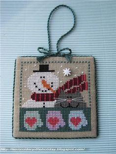 "Embroidery ... The holiday, which is always with me...: Pinkeep ""Kitti's 4 Seasons: Winter"" / Val's Stuff"