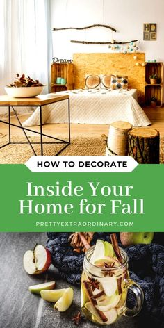 How to Decorate Inside Your Home for Fall - using the colors, foliage and outside as inspiration. Modern Home Interior Design, Home Design Decor, House Design, Home Decor, Autumn Theme, Decorating Your Home, Decor Ideas, Fall, Colors