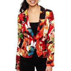 Print Cuff Jacket - jcpenney
