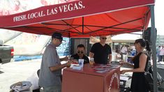 Great Vegas Beer Festival 2015--Banger Brewery Booth. Very friendly brewers, and yes, they were actually the owners/brewers, not volunteers