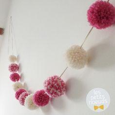 Guirlande de pompons laine