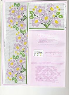 ponto-cruz-flores-7-500x400 78 gráficos de flores em ponto cruz para imprimir