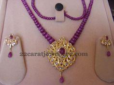 Jewellery Designs: Beads Jewelry with Diamond Tops