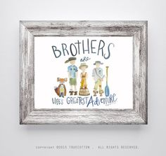 Brothers Print by truecotton on Etsy