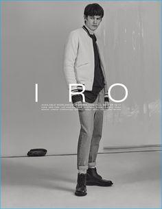 Model Elias de Poot stars in IRO's fall-winter 2016 advertising campaign.