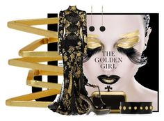 """Gold"" by alyssa23 ❤ liked on Polyvore featuring COS, Roberto Cavalli, Bottega Veneta, Dorus Mhor and Alexander McQueen"
