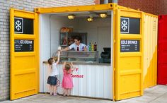 shipping container cafes - Google Search                                                                                                                                                                                 More